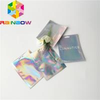 Buy cheap Clear Front Foil Pouch Packaging Custom Hologram Rainbow Foil Smell Proof Mylar from wholesalers