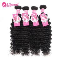 Wholesale Brazilian Virgin Remy Hair 4 Bundles Deep Wave , 8A Curly Hair Bundle Deals from china suppliers