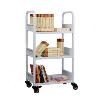 Wholesale Three layers book cart,library book cart with 3 flat shelves RCA-3S-LIB01 from china suppliers