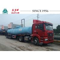 Wholesale 3 Axles Acid Tanker Trailer 21000 Liters Capacity V Shape Tanker For Less Residue from china suppliers