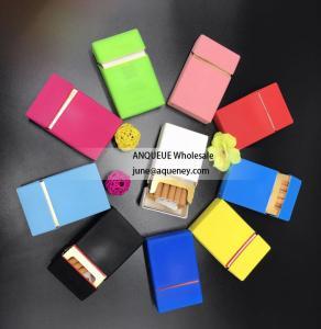 China Silk print silicone cigaretter case, cigarette cover, cigarette box with different printing designs on sale