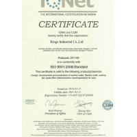 Nantong Kings International Trade Co., Ltd. Certifications
