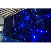 Wholesale Cheap 4m High x6m Wide  led lights event decor star curtain LED Curtain from china suppliers