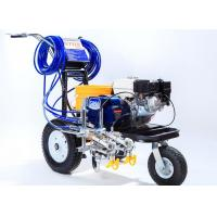 Striping Road Line Marking Machine With Double Guns And Piston Pump