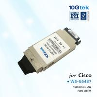 Buy cheap Cisco WS-G5487,1000BASE-ZX GBIC transceiver module for Single Mode Fiber (SMF), 1550nm from wholesalers