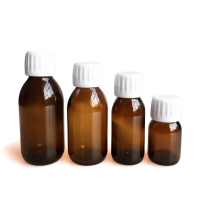 Wholesale Medicine 65ml 100ml Amber Glass Bottle With PP Cap Eco Friendly from china suppliers