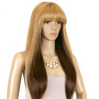 Wholesale Darker Blonde Synthetic Hair Wigs Silky Straight 8inch - 36inch from china suppliers