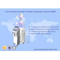 Wholesale 4 Handle Weight Loss Cryolipolysis Machine / Fat Freezing Vacuum Cavitation Slimming Machine from china suppliers