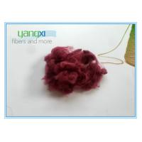 Buy cheap Red Dyed Staple Fiber Polyester 1.5D * 38MM With Semi Dull Luster from wholesalers