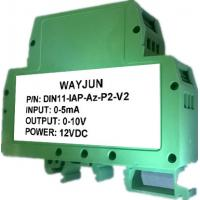 China WAYJUN  3000VDC Isolation DC current/voltage signal Conditioners Green isolation amplifier DIN35  CE approved on sale