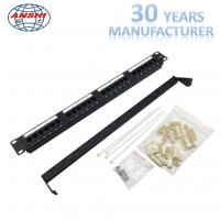 Wholesale 110 IDC Network Patch Panel Cat6 UTP Unshielded 1u Cold Roll Steel Material from china suppliers