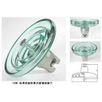 Wholesale Disc Shaped High Voltage Glass Insulators Large Creepage Distance 320 - 490mm from china suppliers