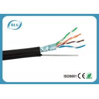Wholesale Outdoor Wiring Cat5e Lan Cable 0.51mm OFC Ethernet FTP Foil Shielded With Steel Messenger from china suppliers