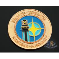 Wholesale Iron Die Strucking Custom Challenge Coins Promotional Items Cut Edge from china suppliers