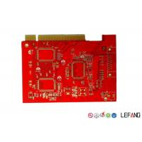 Buy cheap Red Solder Printed Circuit Multilayer PCB Board With ISO 9001 Certification from wholesalers