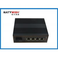 China Dual Power Unmanaged Industrial Ethernet Switch , 5 Port Ethernet Switch Din Rail on sale