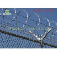 Wholesale Concertina Single Coiled Razor Wire/ Concertina Fencing WireWithout Clips from china suppliers