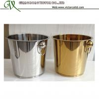 Buy cheap Hot Sales 7L 9L Stainless steel Ice Bucket Golden Mirror Sanding Polishing High from wholesalers
