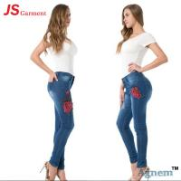 Wholesale Elegant Ladies Jeans Pant Full Length Stretchable Jeans For Ladies from china suppliers