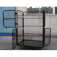Wholesale Anti - Theft Lockable Collapsible Wire Container with Latch for Padlocks from china suppliers