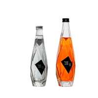 Wholesale FDA 350ml 500ml Glass Drink Bottles Frosted Wine Glass Bottles from china suppliers