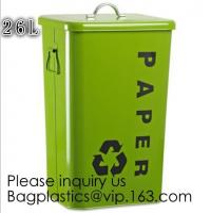 Wholesale Household Metal Tin Garbage /Dust Bin,Metal Dog Pet Food Storage Bin Tin/Galvanized Trash Can/Garbage Bin,Store Supplies from china suppliers