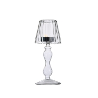 Wholesale Bedside Smooth Glass Modern Candle Holders Lamp Shaped Electroplated Colored from china suppliers