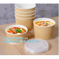Wholesale Salad Cup, Soup Cup, Salad Bowl, Soup Bowl, Large Capacity Disposable Kraft Paper Bowl With Paper Lid Eco Takeaway Food from china suppliers