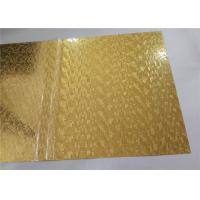 Quality Gold Mirror Embossed Aluminum Sheet , Embossed Aluminum Panels Construction Usage for sale