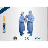 Wholesale Water Resistant Disposable Surgical Gowns SMS Standard Medical Blue With Knitted Cuff from china suppliers