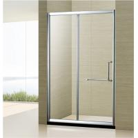 Wholesale Custom Made bathroom simple shower door Two sided Movable Doors Sliding Shower Cubicle from china suppliers