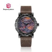 Buy cheap Sport Water Resistant Mens Leather Strap Watches For Business Gift from wholesalers