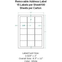 """Wholesale Removable Zip Disc Label 2.35""""X2"""" 15 Labels per Sheet/100 Sheets per Carton from china suppliers"""