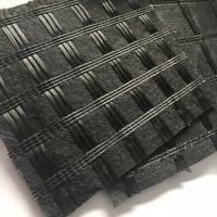 Wholesale Asphalt Reinforcement Polyester Pet Geogrid Knitting Geogtextile Composites With Impregnated Bitumen from china suppliers