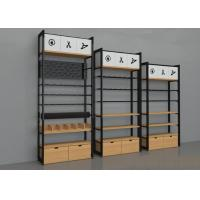 China Wall Side Retail Store Display Fixtures / Grocery Store Shelves Easy Install on sale