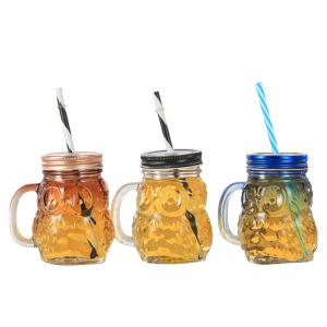 Wholesale Wholesale Customized 16 Oz Wide Mouth Round Glass Mason Jars With Handles from china suppliers