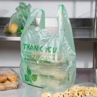 Wholesale Biodegradable Green T Shirt Shopping Bags HDPE Material With 1 / 6 Size from china suppliers