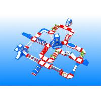 Buy cheap Commercial Red 0.9 mm PVC Tarpaulin Sport Game Floating Inflatable Water Island from wholesalers