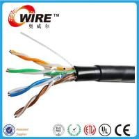 Wholesale waterproof cat5e outdoor solid bare copper 24 awg bulk wire ethernet cable from china suppliers