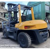 Wholesale used 7ton tcm 3stages diesel forklift FD70Z8 originally made in japan,low working hrs ,6m lifting height from china suppliers