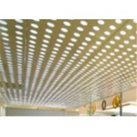 Wholesale Security Ceilings MS Perforated Metal Mesh Sheet Back Light With PVC Coating from china suppliers