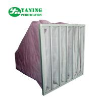 Wholesale HVAC System Polyester Pocket Air Filter Bag M6-M9 3200m³/h Air Volume Galvanized Sheet Frame from china suppliers