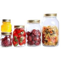 Wholesale Transparent Round Large Sealable Glass Jars 170ml 300ml 500ml 1000ml from china suppliers