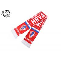 China Soccer Ball Club Sublimation Scarf Custom Fabric Printing Hrvatska Flag on sale