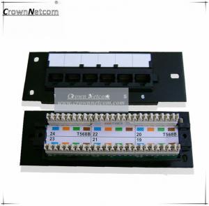 China Network 6Port mini patch panel Cat5e 12ports patch panel FLUKE Test on sale