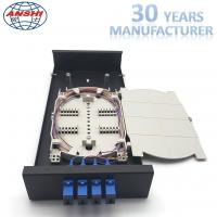 Wholesale Metal Optical Fiber Distribution Box / Wall Mount Enclosure Easy Installations from china suppliers