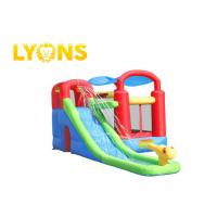 Buy cheap Safety Children Inflatable Bounce House With Slide , 3 Years Warranty from wholesalers