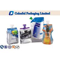 Wholesale Liquid Beverage Stand Up Pouch With Spout , Glossy printing doypack from china suppliers