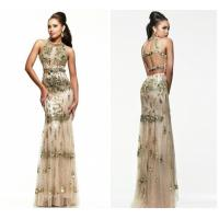 Wholesale Gorgeous Sheath Tulle Straps Halter Long Evening Dresses / Gowns For Prom from china suppliers