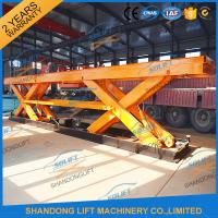 Buy cheap 8T Electrical Hydraulic Scissor Heavy Duty Lift Tables Elevating Platform With from wholesalers